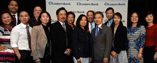 Group of Eastern Bank Employees at Asian American Small Business Breakfast
