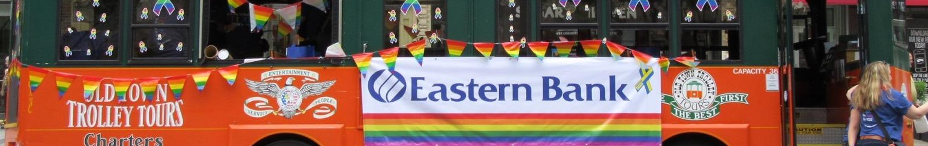 Eastern Bank Gay Pride parade float