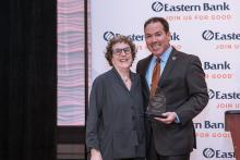 Community Advocacy Award Honoree Sheri Adlin and Eastern Bank Chair and CEO Bob Rivers