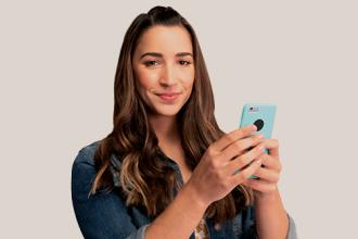 Aly Raisman on mobile phone