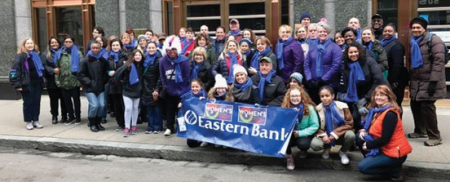 Eastern Bank employees at Boston Women's March